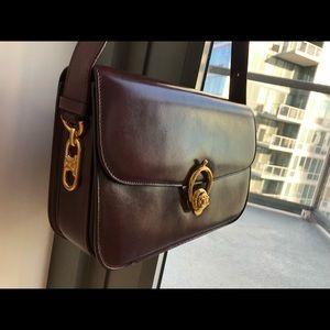 b6d2da61c79 Celine Bags   Rare Auth Wine Color Vintage Shoulder Bag   Poshmark